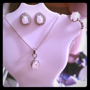 Jewelry - (NWT) White Fire Opal Set